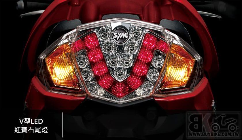 10.V型LED紅寶石尾燈