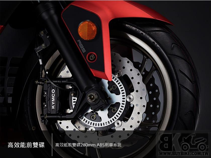 01.高效能前雙碟280mm-ABS剎車系統