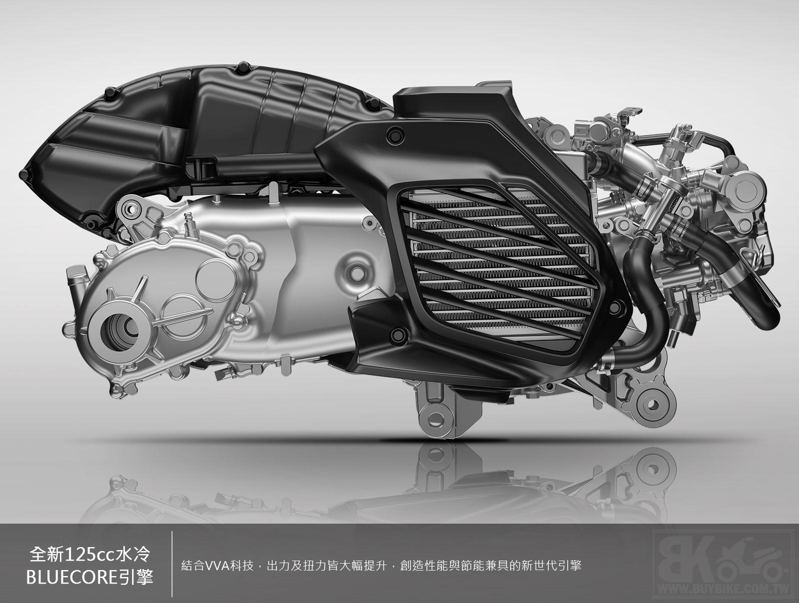 01.全新125cc水冷BLUECORE引擎